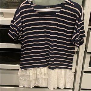 Shirt with flowy edge. Never worn